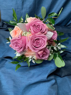 Purple and Peach Bouquet