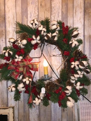 "20""  Country Candle Wreath"