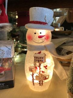 Frosted Snowman Light