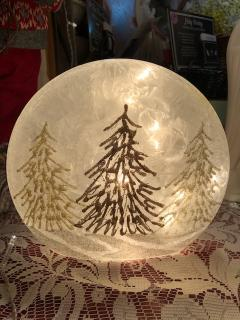 Frosted Glittering Tree Disc Light