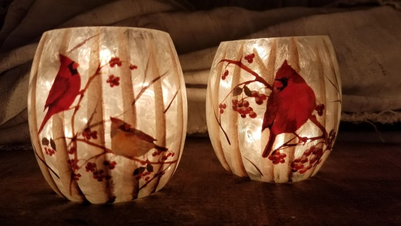 light up cardinal votives