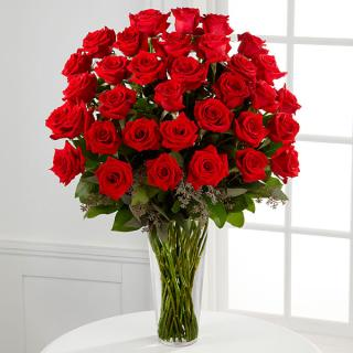 Long Stem Red Rose Bouquet - 36 Stems