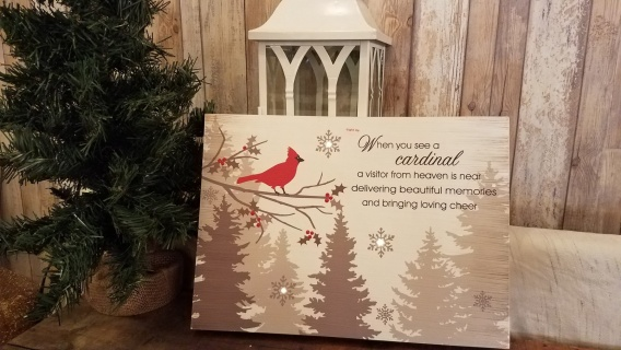 Cardinal Light up sign(battery)