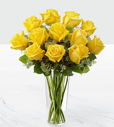 The Yellow Long Stem Rose Bouquet