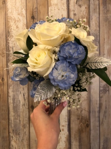 White Blue and Silver Bouquet