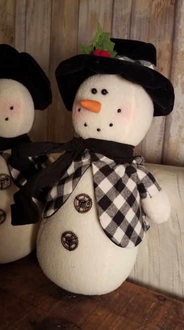 Black and white check Snowman